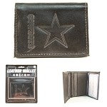 NFL Dallas Cowboys Embossed Logo Black Tri-Fold NFL Wallet